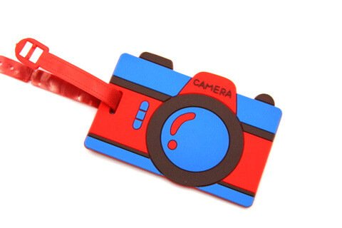 Silicone/Rubber luggage tags for tourist souvenir & gifts, Camera , #02003-002