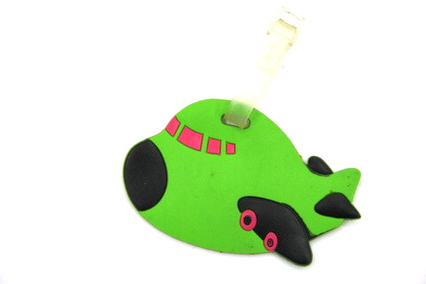 Silicone/Rubber luggage tags for tourist souvenir & gifts, cute cartoon plane, #02003-022