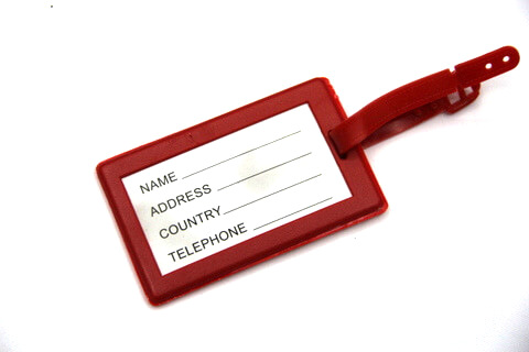 Silicone/Rubber luggage tags for tourist souvenir & gifts, backside,  #02005-008-3