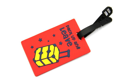 Silicone/Rubber luggage tags for tourist souvenir & gifts