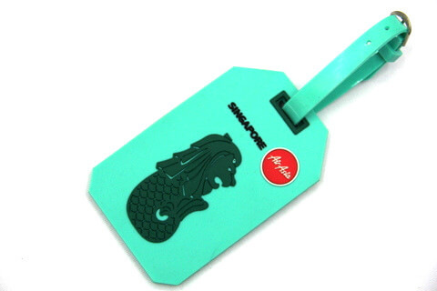 Silicone/Rubber luggage tags for tourist souvenir & gifts, Singapore, #02001-025