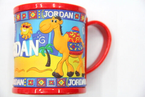 Silicone/rubber drinking cups for promotional&souvenir gifts Jordan #02011-005