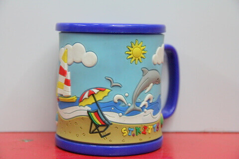 Silicone/rubber drinking cups for promotional&souvenir gifts cartoon dolphin #02011-009-2