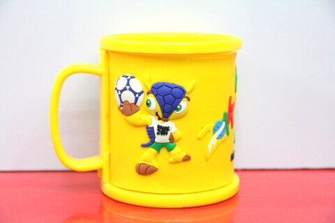 Silicone/rubber drinking cups for promotional&souvenir gifts cartoon football #02011-011