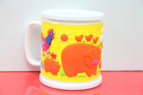 Silicone/rubber drinking cups for promotional&souvenir gifts cartoon farm animal #02011-014