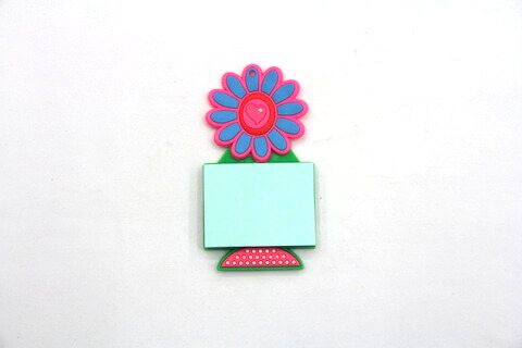 Silicone/Rubber Fridge Magnets Notepad Flower  #02012-004