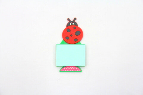 Silicone/Rubber Fridge Magnets Notepad Lady Bird #02012-011