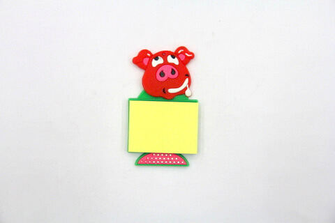 Silicone/Rubber Fridge Magnets Notepad Pig #02012-012