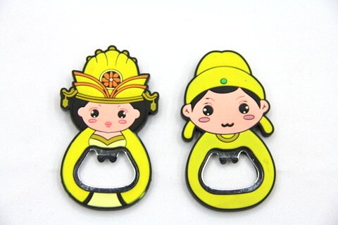 Silicone/rubber bottle opener Chinese women #02015-002