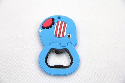 Silicone/rubber bottle opener cartoon elephant #02015-008