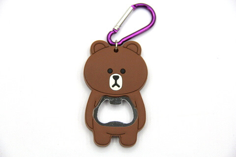 Silicone/rubber bottle opener cartoon bear #02015-011