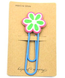 Silicone Rubber Bookmarks cartoon flower #02018-002