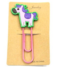 Silicone/Rubber Bookmarks cartoon horse  #02018-004