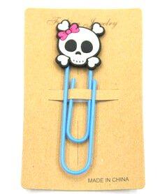 Silicone/Rubber Bookmarks cartoon skull  #02018-006