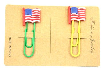 Silicone/Rubber Bookmarks cartoon US flag #02018-007