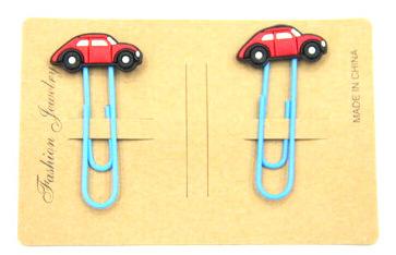 Silicone/Rubber Bookmarks cartoon car #02018-010