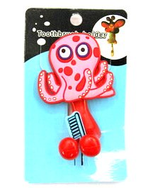 Silicone/Rubber toothbrush holder cartoon octopus #02020-005
