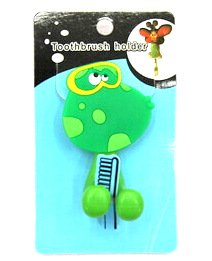 Silicone/Rubber toothbrush holder cartoon frog #02020-010