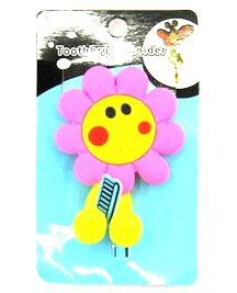 Silicone/Rubber toothbrush holder cartoon cute flower #02020-011