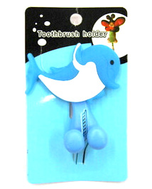 Silicone/Rubber toothbrush holder cartoon dolphin #02020-012