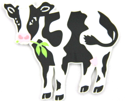 Silicone/Rubber fridge magnets Cute cartoon animals cow #02021-002