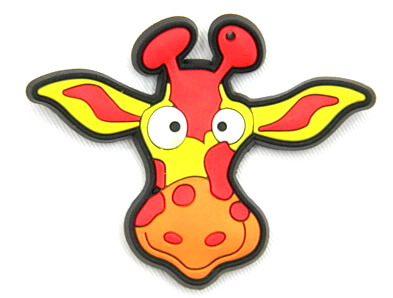 Silicone/Rubber fridge magnets Cute cartoon animals espanol cow head #02021-005
