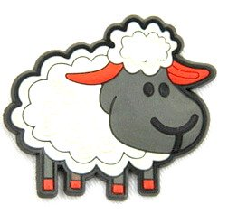 Silicone/Rubber fridge magnets Cute cartoon animals sheep #02021-010