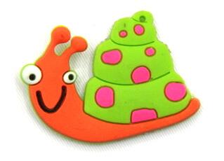 Silicone/Rubber fridge magnets Cute cartoon animals snail #02021-011