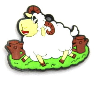 Silicone/Rubber fridge magnets Cute cartoon animals sheep farm #02021-018