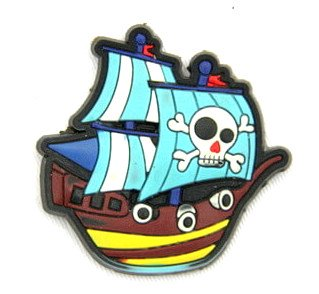 Silicone/Rubber fridge magnets pirate ship #02022-003