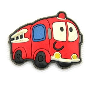 Silicone/Rubber fridge magnets cute cartoon fire engine #02022-007