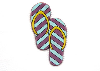 Silicone/Rubber fridge magnets cute cartoon, cute slippers, #02023-002