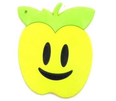 Silicone/Rubber fridge magnets cute cartoon, green apple, #02023-004
