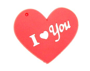 Silicone/Rubber fridge magnets cute cartoon, I love you heart, #02023-007