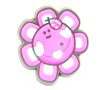 Silicone/Rubber fridge magnets cute cartoon, sun flower, #02023-011
