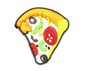 Silicone/Rubber fridge magnets cute cartoon, pizza, #02023-012