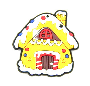 Silicone/Rubber fridge magnets cute cartoon, Christmas snowy house, #02023-013