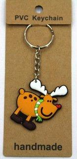silicone Christmas key chain deer #02026-005