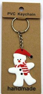 silicone Christmas key chain Snowman #02026-006
