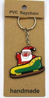 silicone Christmas key chain Santa #02026-008
