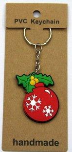 silicone Christmas key chain Ball #02026-015