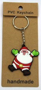 silicone Christmas key chain Santa #02026-016