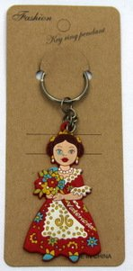 silicone key chain souvenir culture theme #02026-020