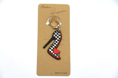 Silicone / rubber soft plastic key chain (ring) High Heel Shoes
