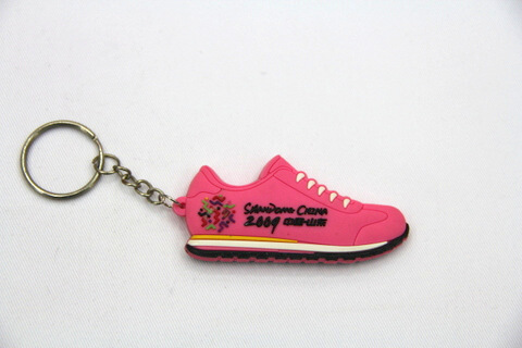 Silicone / Rubber Soft Key Chain in Shapes of Sports Shoes #02027-019