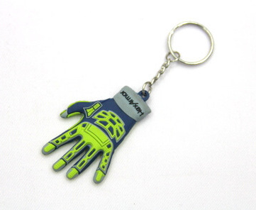 Silicone / rubber soft plastic key chain (ring) hand shape