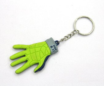 Silicone / rubber soft plastic key chain (ring) gloves shape