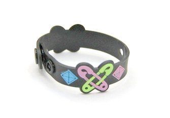 Silicone/Rubber (Soft Plastic) Bracelet Pin Butterfly #02029-014