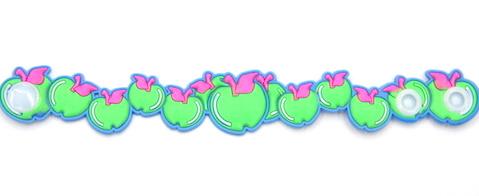 Silicone/Rubber (Soft Plastic) Bracelet Fruit Apple #02029-18-2