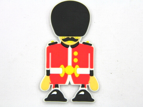 Silicone/Rubber fridge magnets, Cute cartoon, guard, #02032-002
